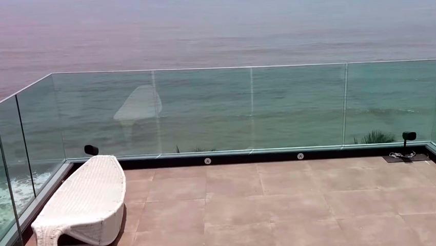 barandilla de cristal para terrazas