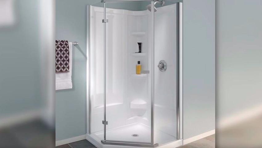 Mampara para la ducha moderna