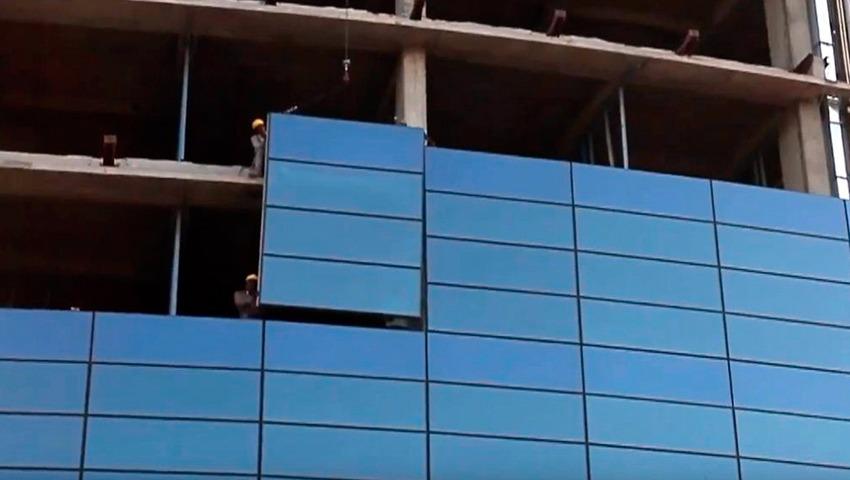 instalación de muro cortina en Valencia